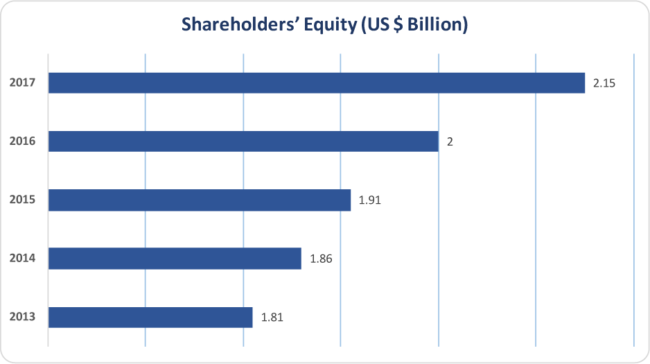APICORP 2013-2017 Shareholders' Equity